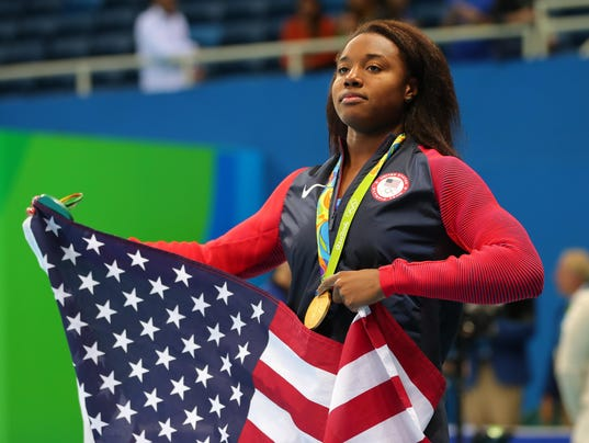 story sports olympics simone manuel gold medalist police brutality african american swimmer