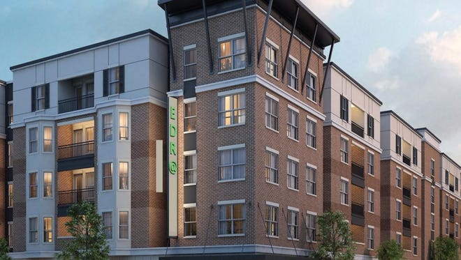 This rendering shows the proposed look of a new 137-bed student housing complex planned on Plum Street near the Colorado State University campus.