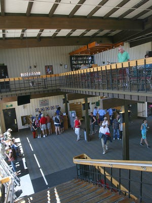 Visitors explore the Palm Springs Aerial Tramway mountain station. Officials are planning a renovation of all of the building's interior spaces.