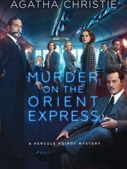 The movie tie-in jacket for 'Murder on the Orient Express' by Agatha Christie.