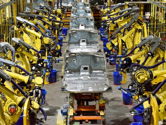 More than 400 robots were added in the body shop at Kentucky Truck Plant in Louisville, KY.