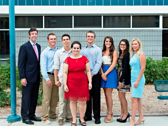 Judy and David Jones Scholarship Fund winners.2014.jpg