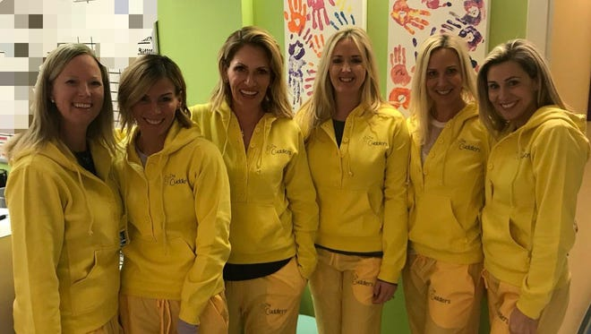 The Cuddlers are Chrissy Krempel, from left, Tracey Secco, Danialle Karmanos, Leah MacMartin, Connie Quarrier, and Alexis Kiriluk.