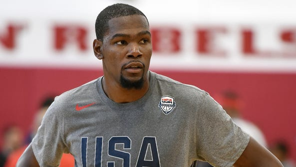 Kevin Durant of the 2016 USA Basketball Men's National