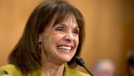 Actress and cancer survivor Valerie Harper, testifies May 7, 2014, before a Senate Special Committee on Aging hearing to examine the fight against cancer on Capitol Hill in Washington.