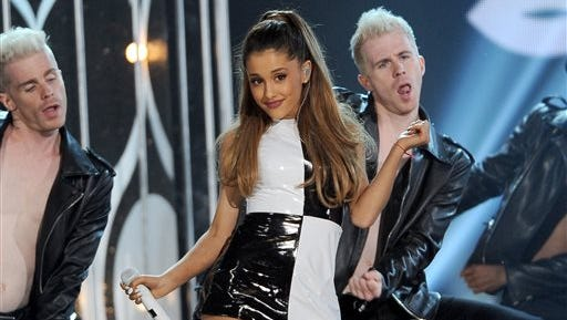 Ariana Grande performs at the Billboard Music Awards at the MGM Grand Garden Arena, in Las Vegas. Grande is having a breakthrough in music with the multiplatinum hit ?Problem,? which is spending its 13th week in the top 10 on the Billboard Hot 100 chart. The song features rapper Iggy Azalea and is from Grande?s sophomore album, ?My Everything,? to be released Aug. 25.