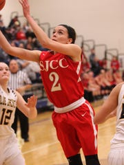 Adrienne Wehring leads SJCC in scoring and rebounding.