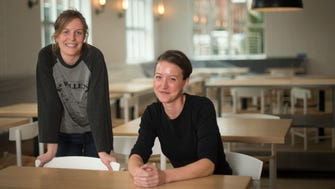 Allie Poindexter and Chef Julia Sullivan are partners in a new restaurant, Henrietta Red, in the Germantown neighborhood Tuesday Feb. 7, 2017, in Nashville, Tenn.