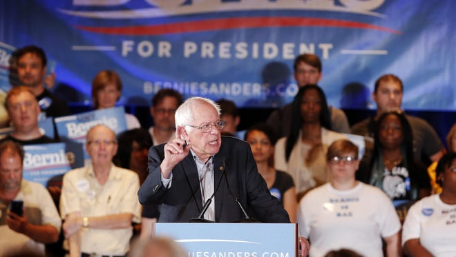 Democratic presidential candidate Sen. Bernie Sanders, I-Vt., speaks Sunday during a campaign rally in Dallas.