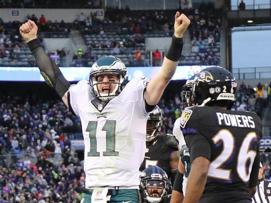 USP NFL: PHILADELPHIA EAGLES AT BALTIMORE RAVENS S FBN USA MD