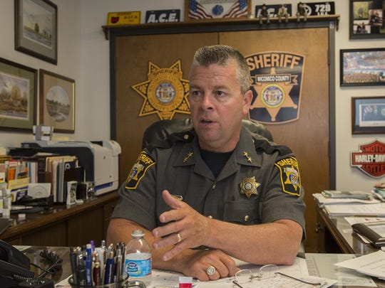 Wicomico County Sheriff Mike Lewis is shown in this file photo.