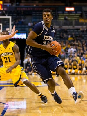 Jackson State guard Raeford Worsham (10) scored 21 points in a 80-61 loss to Marquette on Sunday.