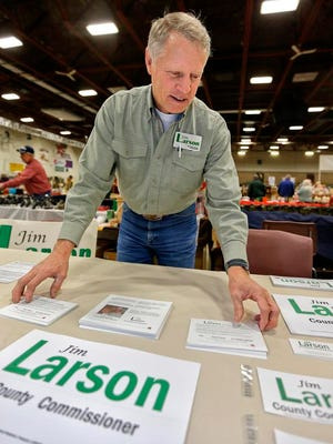 Republican Jim Larson won a second term on the Cascade County Commission Tuesday.