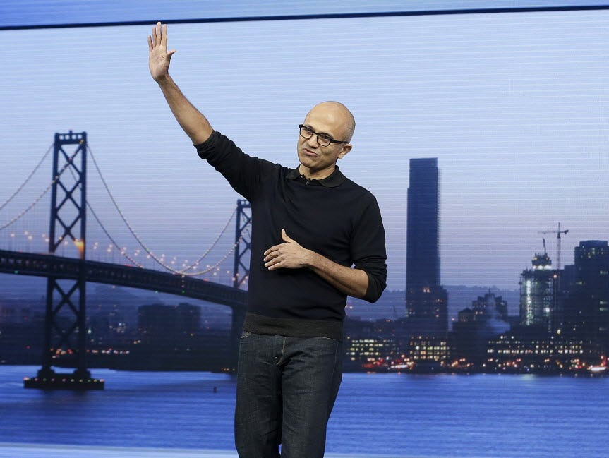 Microsoft CEO Satya Nadella continues his reinvention of the stories tech company, which reports earnings Tuesday.