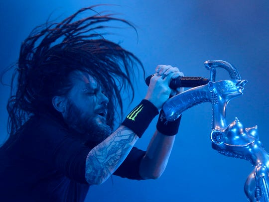 Korn plays Riverbend Music Center on Aug. 18, co-headlining with Alice In Chains.