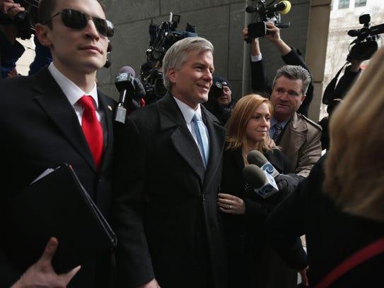 Former Virginia governor Robert McDonnell arrives at