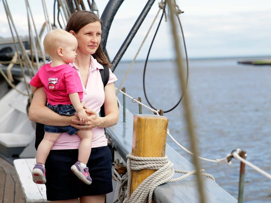 Cara Masset and her 16-month-old daughter, Melodie,