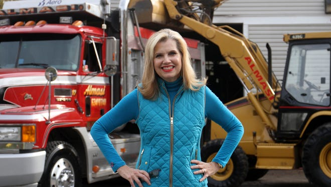 Anne Marie B. Almasi, president and CFO of Almasi Companies, a construction and soil remediation company, Monday, November 2, 2015, in Woodbridge.