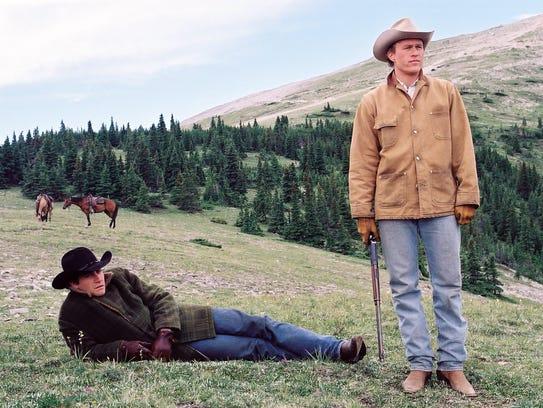 "Jake Gyllenhaal (left) and Heath Ledger star in ""Brokeback"