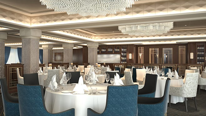 Compass Rose is the main restaurant on all four of luxury line Regent Seven Seas Cruises' ships.