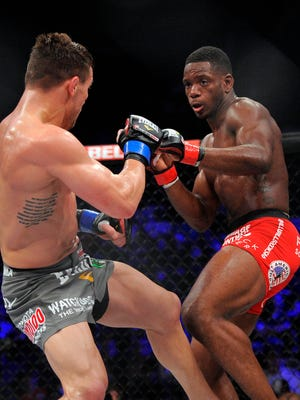 Will Brooks fights against Michael Chandler during a Bellator interim lightweight world championship bout  in May. Brooks won by submission