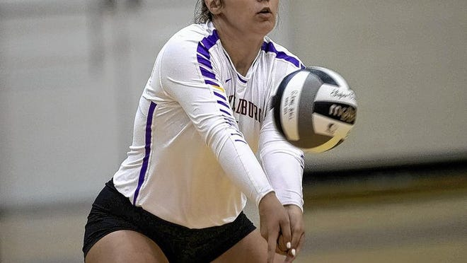 Junior defensive specialist/libero Kaylynn Gianettino is among the top returnees for the Reynoldsburg girls volleyball team and first-year coach Cassie  Tackett. The Raiders play their OCC-Buckeye Division opener Sept. 10 at Groveport.