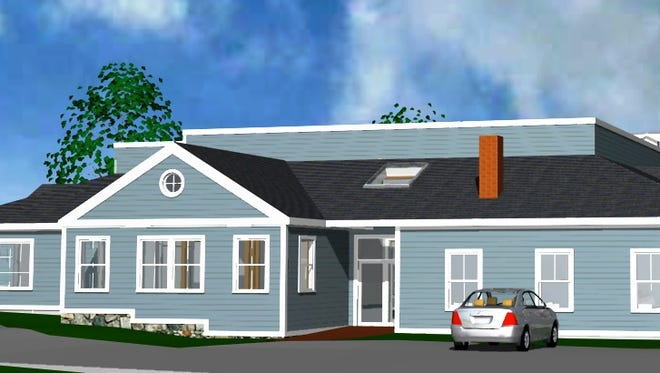 Rendering of renovations to the outside of the Lewisboro Library.