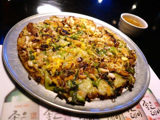 Seafood Pancake at Drunken Tiger. | Details: $15.99.