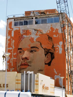 A mural of Juan Gabriel in Juarez.