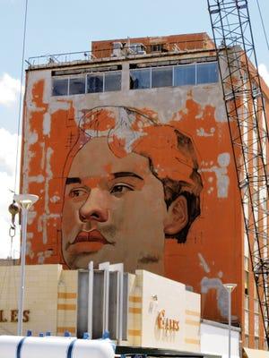 A mural of Juan Gabriel in Juarez.
