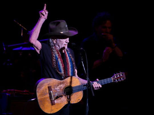 Willie Nelson performs at Artis—Naples in North Naples on Sunday, March 5, 2017. The legendary 83-year-old singer-songwriter's show was a makeup for a show he canceled last March due to illness.