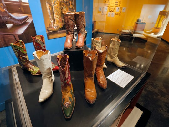 Many different styles by El Paso bootmakers are on exhibit at the El Paso Museum of History.