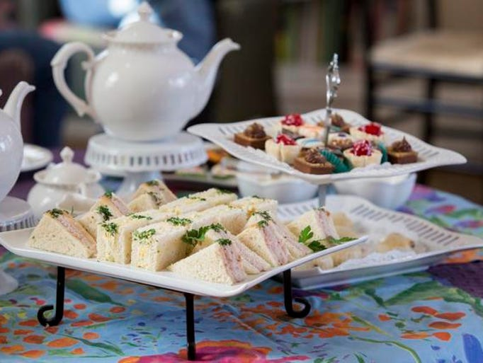 Afternoon tea at the Centreville Cafe is served in the house's former parlor. Diners get an assortment of finger sandwiches, scones and sweet and savory treats. The cost is $24.95 per person. Reservations are required.