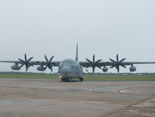 This Marine Corps C-130 Hercules transport plane is