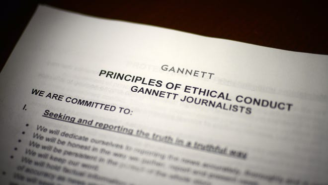 The Principles of Ethical Conduct for Gannett journalists.