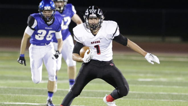 SPASH's Colton Kizewski was named the VFA-West Division's offensive player of the year after rushing for 14 touchdowns in conference games.