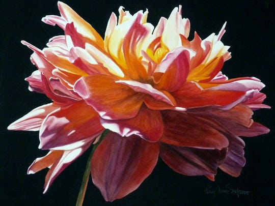 Local artist Penny Simpson's dramatic, light-filled watercolors are featured in the sixth annual Las Cruces Arts Fair.