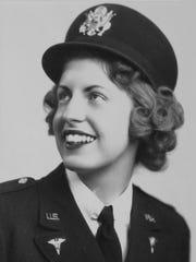 Harriet Swanson is shown in military uniform.