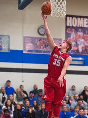 Rockwood's Nick Papsoa tries to make a basket during