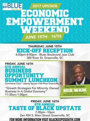 The Economic Empowerment Weekend will be held Thursday through Friday in downtown Greenville.