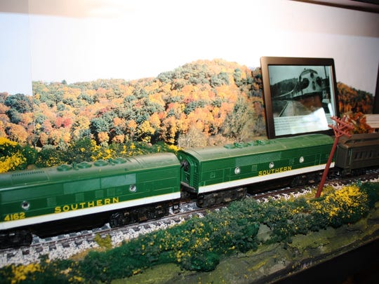 One of the model trains donated by Dr. McConnel to the Saluda Historic Depot.