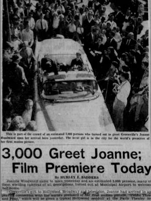 An article on the front page of The Greenville News on Oct. 24, 1955.