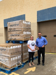Lura Counts, left, picked up bicycles at Walmart in East Naples to deliver to Pinecrest Elementary School. She previously donated more than 100 bikes, bought with her birthday money.