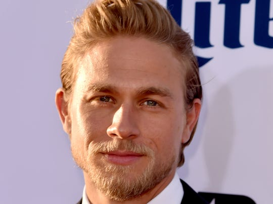 "Actor Charlie Hunnam arrives at the season 7 premiere screening of FX's ""Sons of Anarchy."""