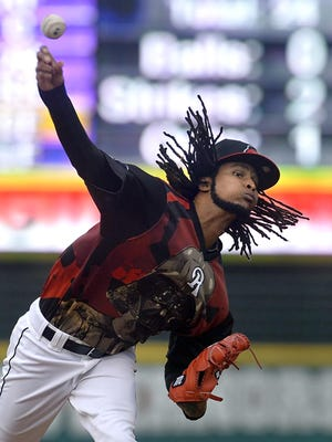 Rochester's Ervin Santana releases a pitch toward the plate during regular season game against Louisville at Frontier FIeld on June 20, 2015.
