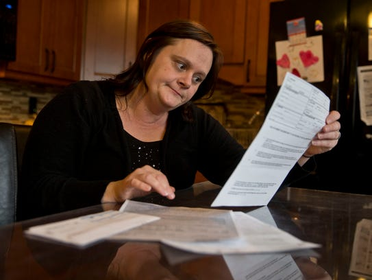 Beth Ambos of Jackson was charged $3,251 when the orthopedist