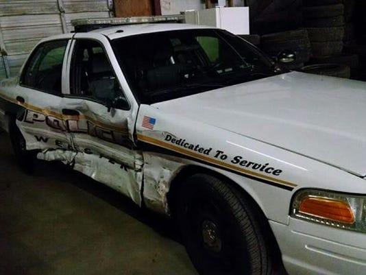 Webster Police car crash