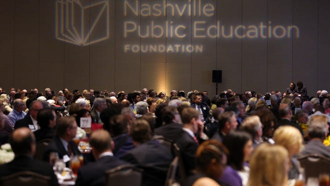 The audience is seated for the The Nashville Public Education Foundation's annual luncheon held at the Omni Hotel Monday October 17, 2016.
