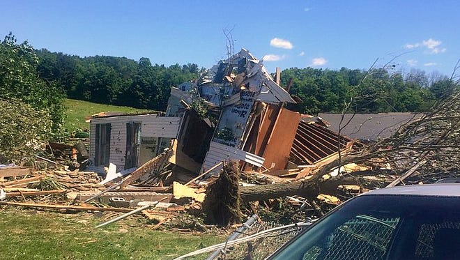 Severe storms caused extensive damage Wednesday in parts of Bradford County.