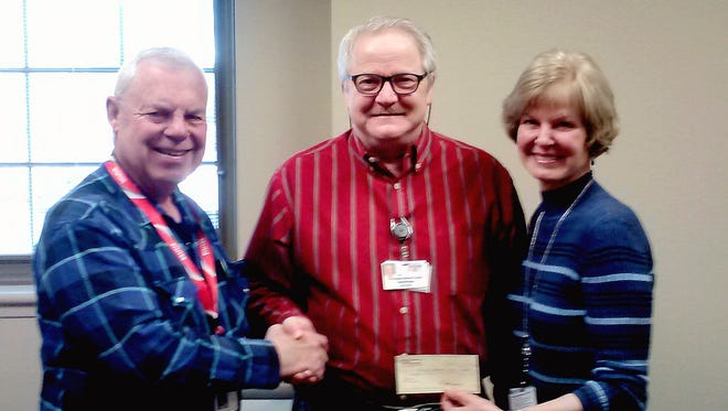 From left, are, David Fischer, Secretary Santa Rita Lodge; Todd Winder the Facility Manager; and Diane LeBlanc, Management Analyst of Fort Bayard State Veterans Home.